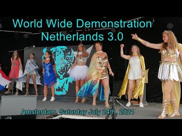 World Wide Demonstration 3 0 Netherlands Amsterdam 24th 2021