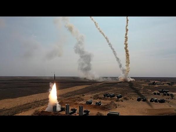 На полигоне Ашулук зенитичики и военные летчики отразили воздушный налет