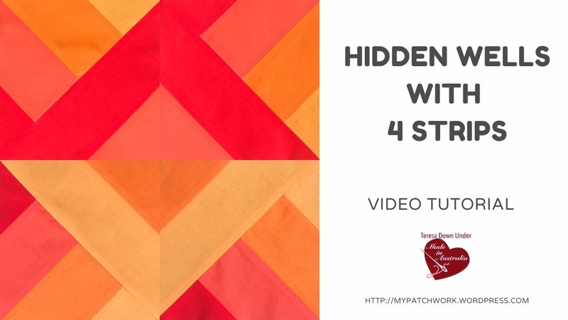 Hidden wells with 4 strips and ombre colours video tutorial