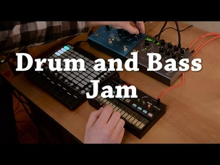 Drum and Bass jam with KORG Volca Fm | STRYMON Timeline, Big Sky | AKAI Apc Mini