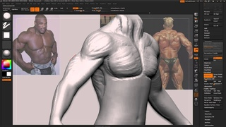 Zbrush Tutorial - Answering TrickiiT - How to sculpt detailed muscles [pretty quick and dirty tut]