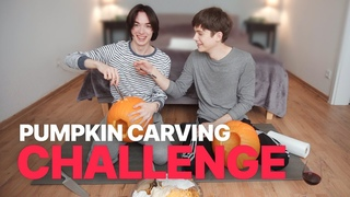 Carving Pumpkins, again! (Title for YouTube algorithm: CUTE GAY COUPLE HAVING FUN CARVING PUMPKINS)