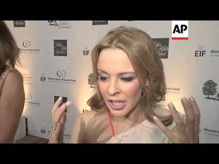 Kylie Minogue reveals her advice to cancer patients at star studded benefit