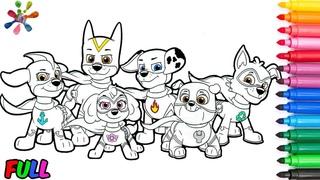 PAW Patrol. Coloring for  series in a  pups //Раскраски для детей Щенячий патруль