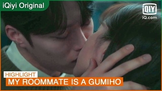 It is a softly kiss by Woo Yeo this time😘 | My Roommate is a Gumiho EP11 | iQiyi K-Drama