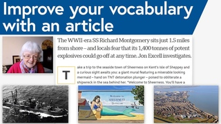 Improve your English Vocabulary by reading an article with me