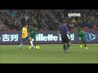Brazil 1-0 Zambia Goal Oscar