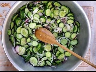 САМЫЙ ВКУСНЫЙ САЛАТ ИЗ ОГУРЦОВ НА ЗИМУ/Cucumber salad/Kukuma salato