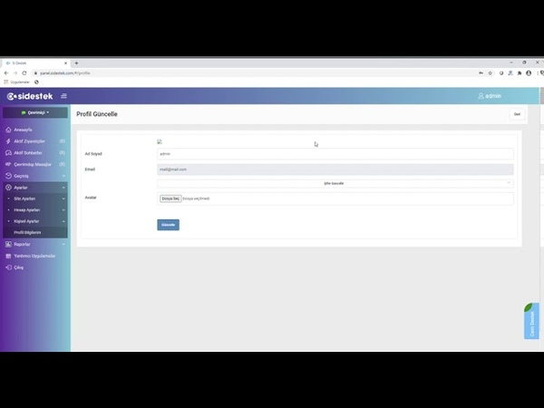Canlı Destek Şifre Ve Avatar Güncelleme Si Destek Yazılım