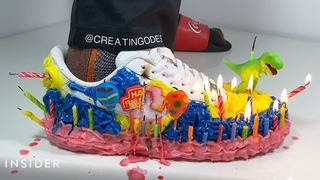 Designer Uses Everyday Items To Transform Sneakers