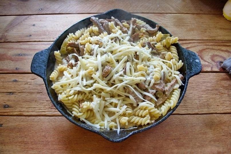 Макароны великолепно сочетаются с сыром и болгарским перцем., изображение №5