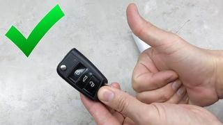 Замена батарейки в ключе Шкода Октавия А7
