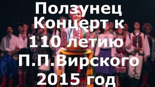 Лучший танец. Ансамбль Вирского - Ползунец. Концерт 110 лет П.П.Вирского. Virsky povzunets