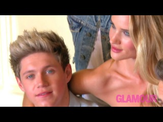 Behind the Scenes of One Direction's Photo Shoot with Rosie Huntington-Whiteley for Glamour's August Cover