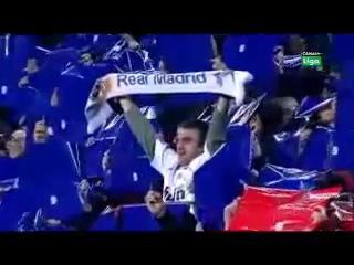 Фанат Реал Мадрида на Фан - Секторе Барселоны
