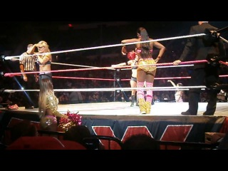 Brie bella and eva marie dancing in providence, rhode island