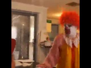 Ronald McDonald Freaks Out