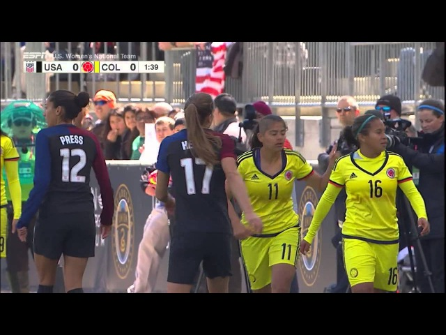 (1) USWNT vs Colombia 4.10.2016