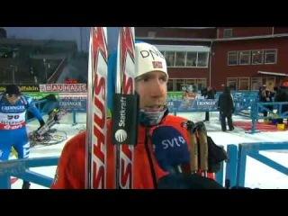 Интервью Эмиля после мужского спринта для шведского ТВ