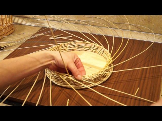 Русская ива. 12 урок. Плетение боковой косы.