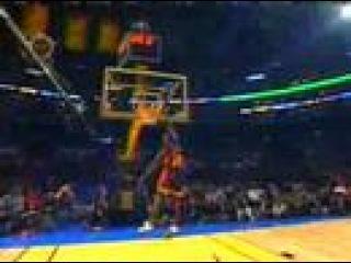 jason richardson off the backboard between the legs dunk