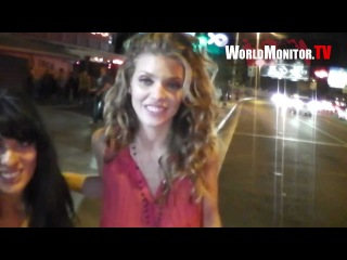 AnnaLynne McCord from Beverly Hills 90210 'PSY Gangnam Style' leaving Pink Taco