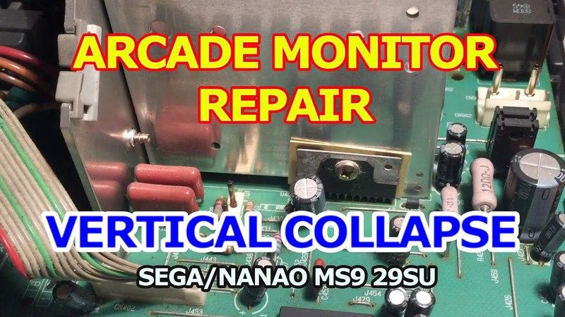 Arcade Monitor Repair Vertical collapse Sega Nanao MS9 29SU