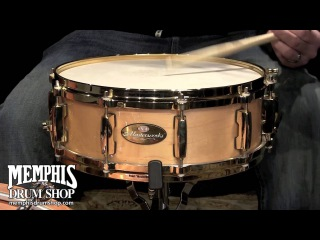 Pearl 14 x 5 Masterworks Maple Snare Drum - Natural w/ Gold Hardware