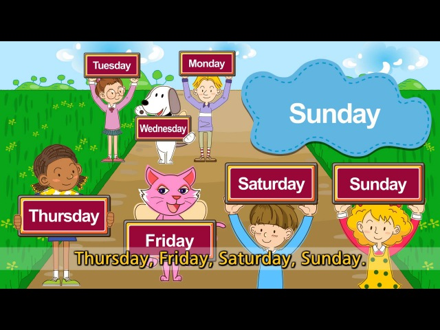 What day is it today Its Monday Tuesday Wednesday (Day of the week) - English song for Kids