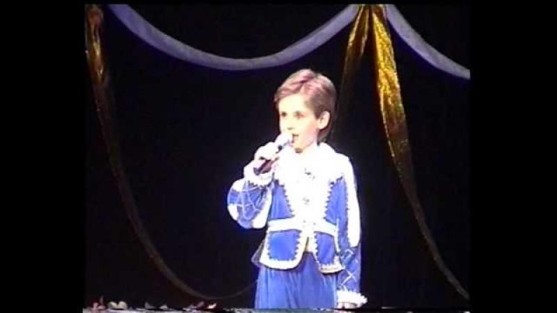 Детские песни 'O Sole Mio 7 year old Oleg Aleksandrov in Сhildren's Musical Theater