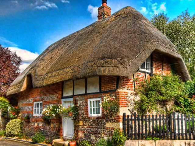 Необычной красоты уютные английские дачные домики
