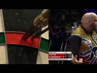 Phil Taylor vs Kyle Anderson (Perth Darts Masters 2015 / Quarter Final)