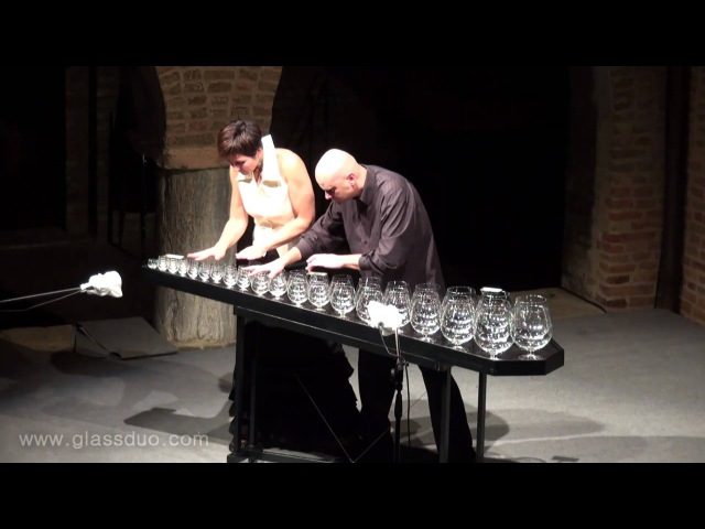 Sugar Plum Fairy by Tchaikovsky GlassDuo LIVE glass harp