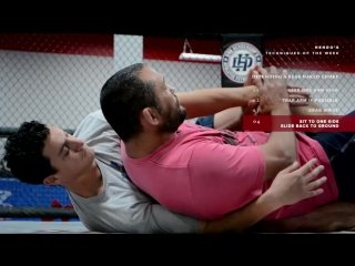 Dan henderson rear naked choke defense