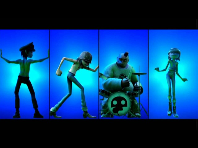 Gorillaz - Dirty Harry (BRITs Animation) (Screen only)