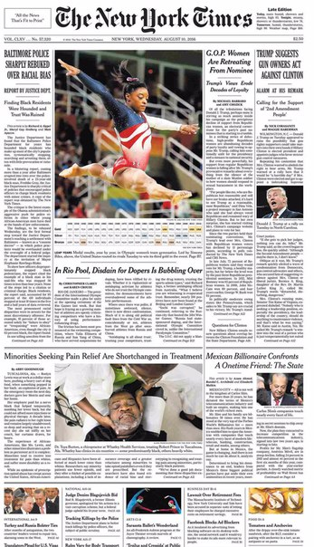 The New York Times  August 10 2016