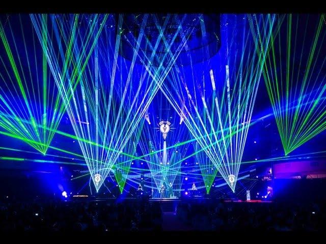 Lasershow zu VNV NATION beim LEA Award 2013 mit tarm Showlaser GmbH Ralf Lottig