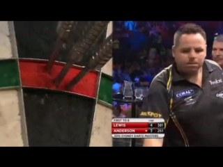Gary Anderson vs Adrian Lewis (Sydney Darts Masters 2015 / Quarter Final)