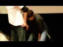 AHBL con Misha Collins signs Jared's T shirt
