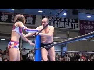 Kana(Asuka) & Minoru Suzuki vs Syuri & Yoshiaki Fujiwara