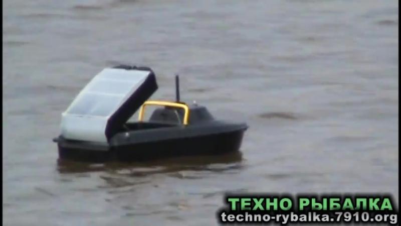 Jabo 2AL кораблик для завоза прикормки и снастей на рыбалке - тест обзор - YouTube (480p)