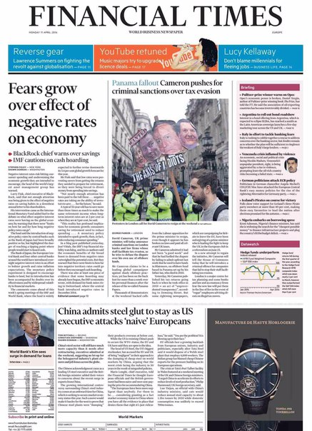Financial Times Europe  April 11 2016