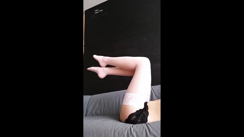 Eve Takes Off Her Stockings and Shows Her Beautiful