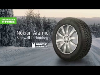 Aramid saves tyres, Nokian Tyres saves lives (Winter)