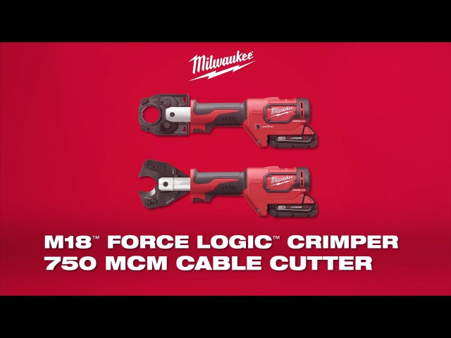 Milwaukee® M18™ ForceLogic™ Commercial Crimper 750 MCM Cable Cutter