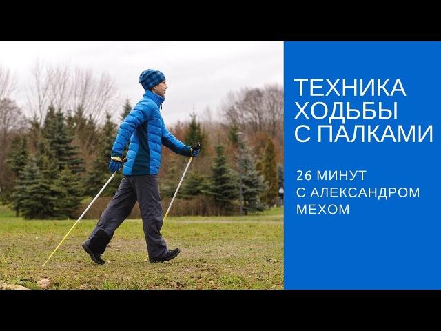 Техника скандинавской ходьбы Полный урок по скандинавской ходьбе для новичков