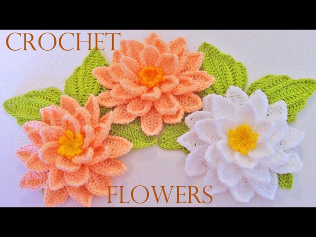 Como tejer flores fácil y rápido en una sola tira con hojas - How to make knitting crochet flowers