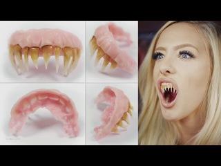 как сделать накладные зубы и вампирские клыки из полиморфуса