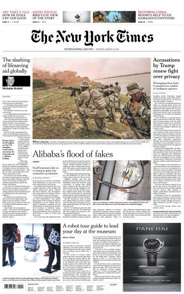 International New York Times 21 March 2017 FreeMags