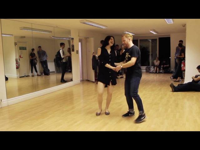 Johnny's Drop Lindy Hop class with Tony Sharon 5 September 2016